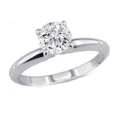 0.60 ct Round cut Diamond Solitaire Ring, G-H, VS