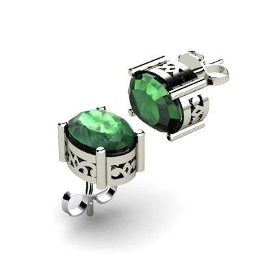 Emerald 1.70ctw Earring 14kt White Gold