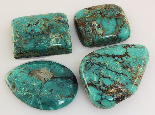 Natural Turquoise 291.53ctw Loose Gemstone 3pc Big Size