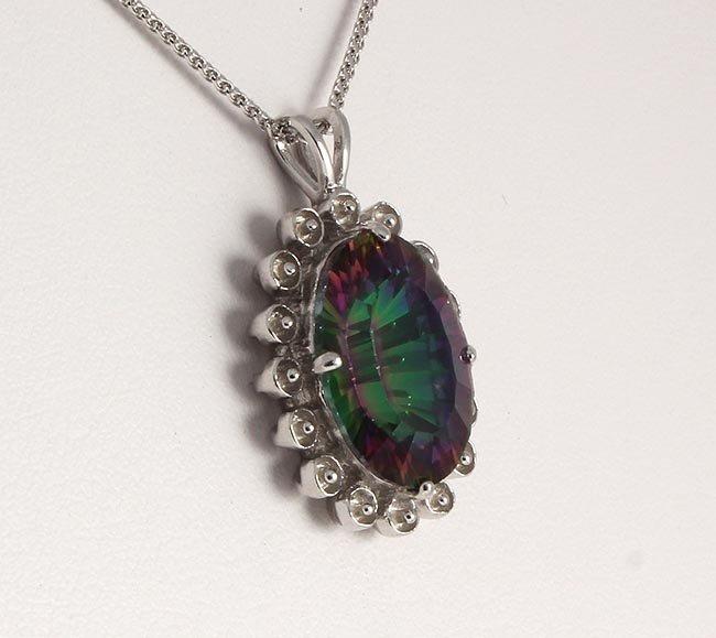 Natural Stone Mystic Topaz Pendant