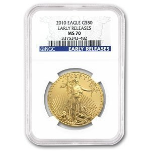 2010 1 oz Gold American Eagle MS-70 NGC (Early Releases