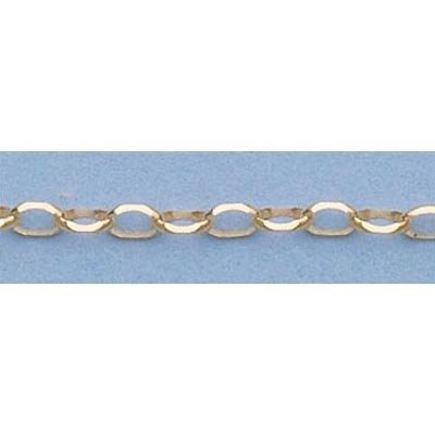 """Pure Gold 16"""" 14k Gold-Yellow 2.3mm Oval Link Chain"""