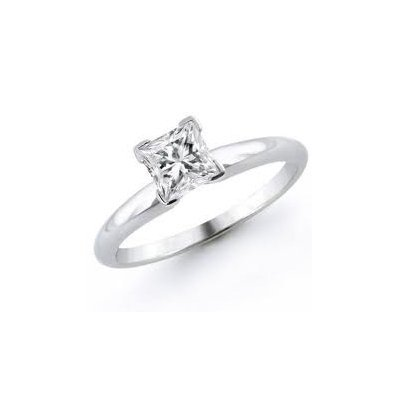 1.25 ct Princess cut Diamond Solitaire Ring, I-J, SI2