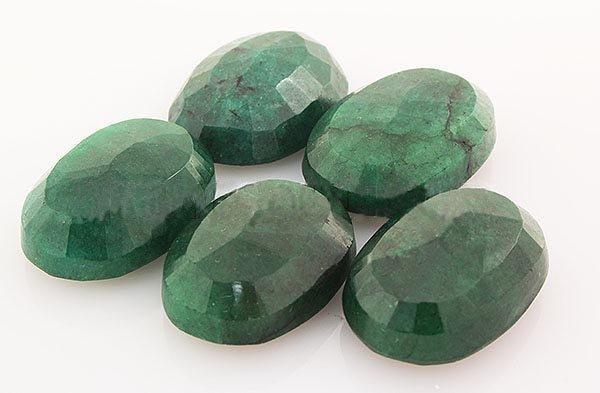 159.26ctw Faceted Loose Emerald Beryl Gemstone Lot of 5