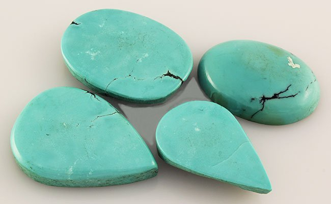 Natural Turquoise 127.57ctw Loose Small Gemstone Lot of