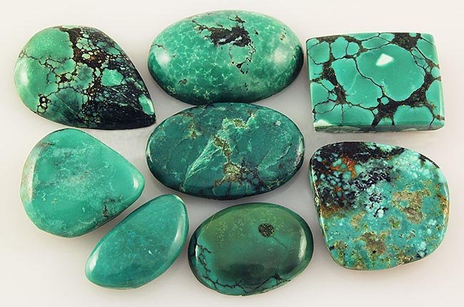 Natural Turquoise 173.45ctw Loose Small Gemstone Lot of