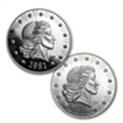 1 oz Liberty Mint Silver Round .999 Fine