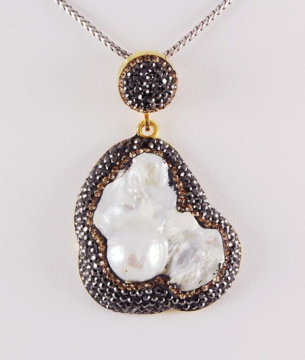 Victorian Vintage Mother of Pearl Pendant