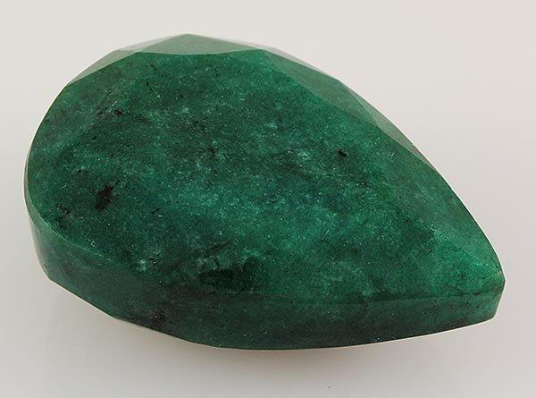 Emerald 127.72ctw Loose Gemstone 39x28x16mm Pear Cut