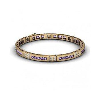 Tanzanite 2.56 ctw& Diamond Bracelet14kt W OR Y Gold