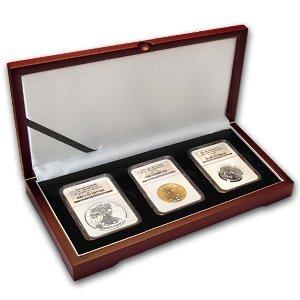 3-Coin Tri Metal Reverse Proof American Eagle Ann Set P