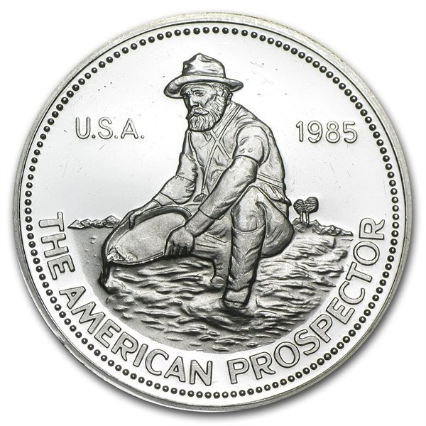 1 oz 1985 (Eagle) - Engelhard Prospector Silver Round (