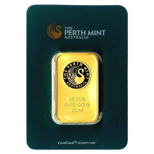 Ten Ounce Gold Bar Perth Mint