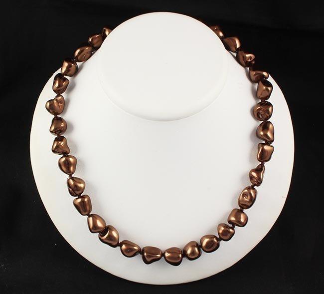 Keshi Chocolate Pearl Handmade Necklace