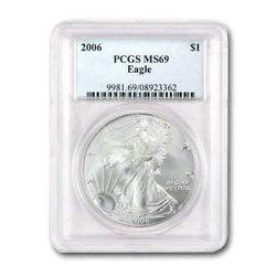2006 1 oz Silver American Eagle MS-69 PCGS