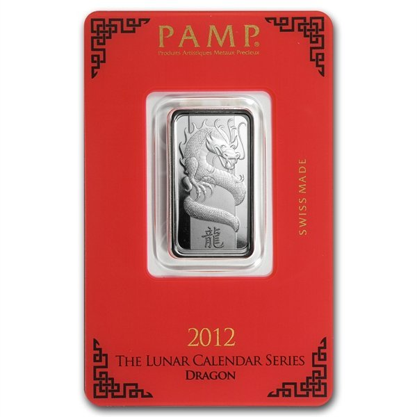 10 gram Pamp Suisse Silver Bar - Dragon (In Assay)