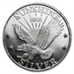 1 oz Sunshine Mining Silver Round .999 Fine