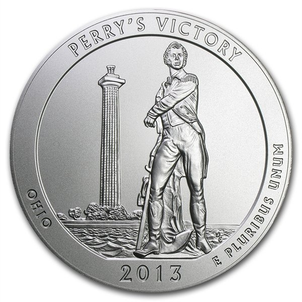 2013-P 5 oz Silver ATB - Perry's Victory (W/Box & Coa)