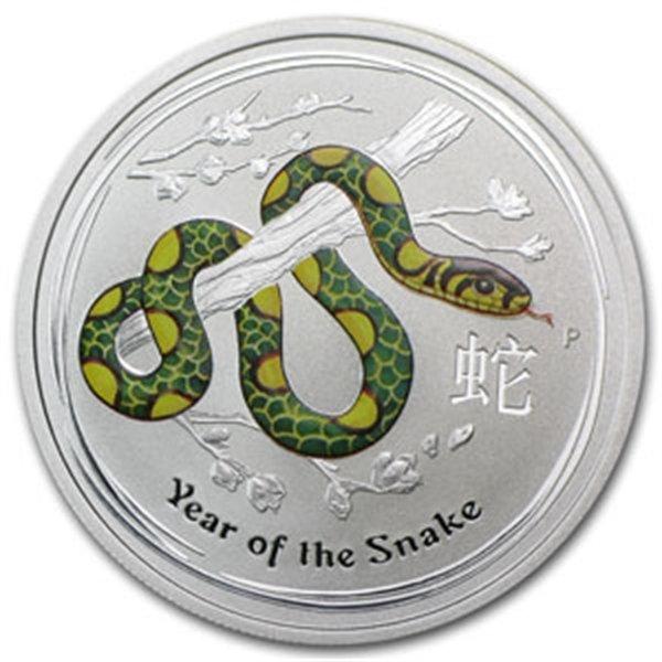 2013 1/2 oz Australian Silver Year of the Snake Coloriz