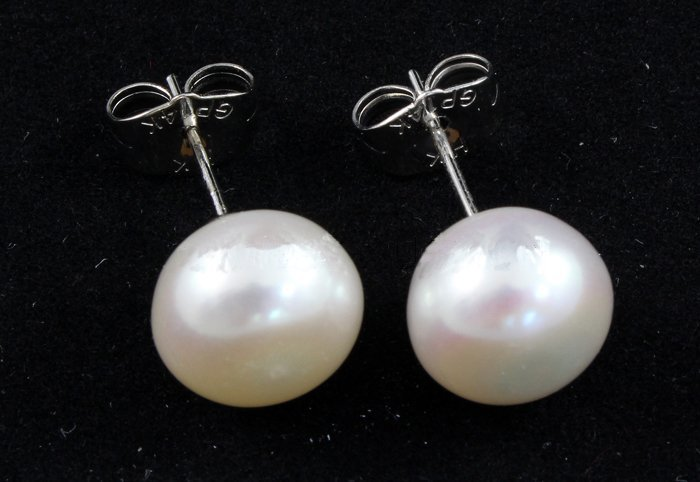 15.66CTW WHITE RICE PEARL EARRING PHILIPPINES