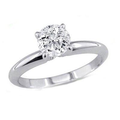 0.35 ct Round cut Diamond Solitaire Ring, G-H, VS