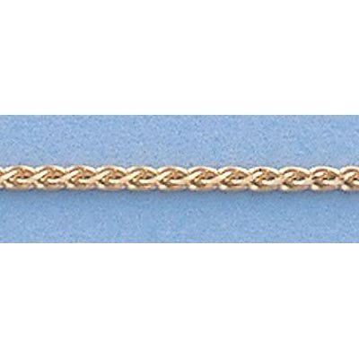 """Pure Gold 16"""" 14k Gold-Yellow 1.1mm Wheat Chain 2.8g"""