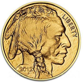 One Ounce 2012 Gold Buffalo Coin Uncirculated