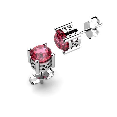 Garnet 1.20ctw Earring 14kt White Gold