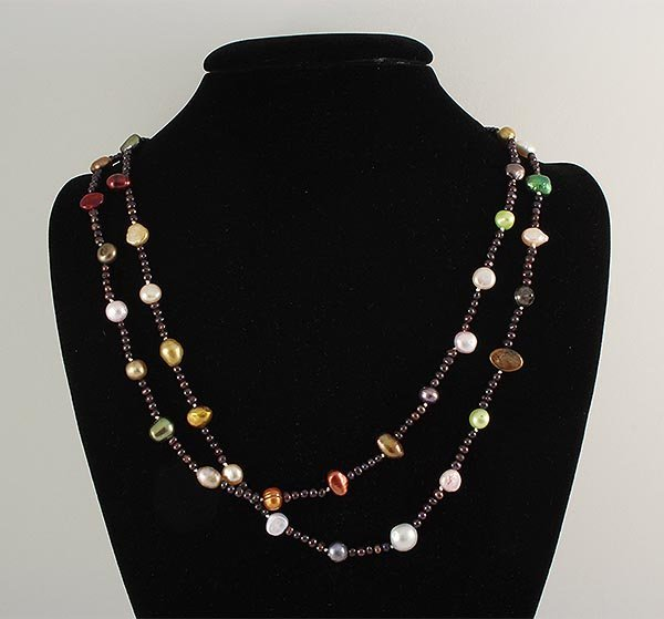 235.87CTW LONG FRESHWATER PEARL NECKLACE ASSORTED