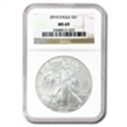 2010 Silver American Eagle (NGC MS 69)