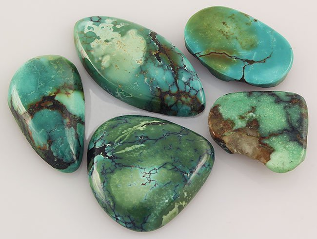 Natural Turquoise 123.47ctw Loose Small Gemstone Lot of