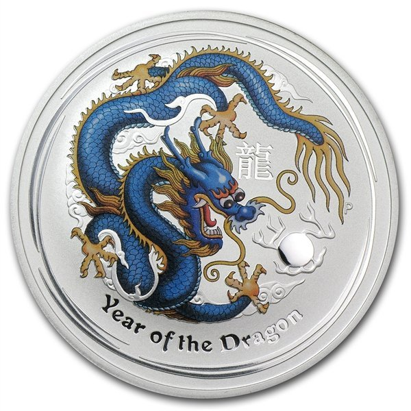 2012 1 oz Silver Blue Dragon (ANDA Sydney Coin Show Spe