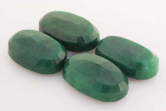 219.47ctw Faceted Loose Emerald Beryl Gemstone Lot of 4
