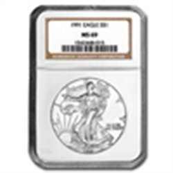 1991 Silver American Eagle (NGC MS-69)
