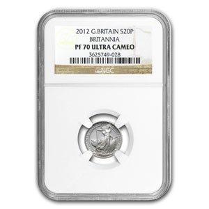 2012 1/10 oz Silver Britannia PF-70 UCAM NGC
