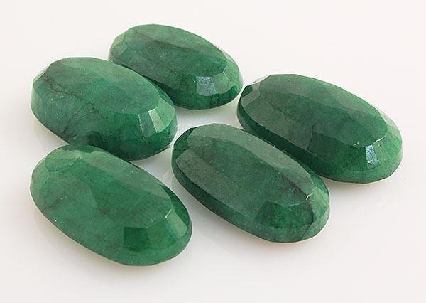 173.24ctw Faceted Loose Emerald Beryl Gemstone Lot of 5