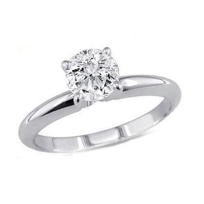 0.25 ct Round cut Diamond Solitaire Ring, G-H,I1-I2