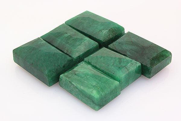 253.40ctw Faceted Loose Emerald Beryl Gemstone Lot of 6 - 2