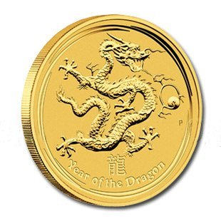 Australian Series II Lunar Gold 2 Ounce 2012 Dragon