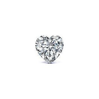 Heart 1.01 Carat Brilliant Diamond F SI1