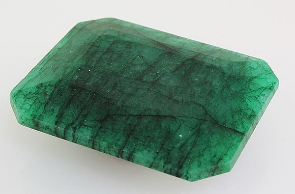 Emerald 122.38ctw Loose Gemstone 39x31x12mm EmeraldCut