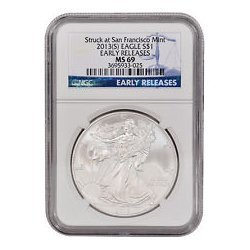 2013 (S) Silver American Eagle MS-69 NGC (Early Release