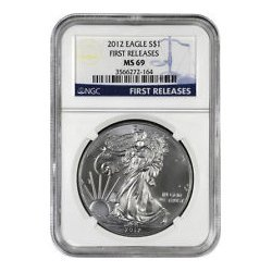 2012 (S) Silver Eagle (NGC MS-69) Bridge Label Box #10