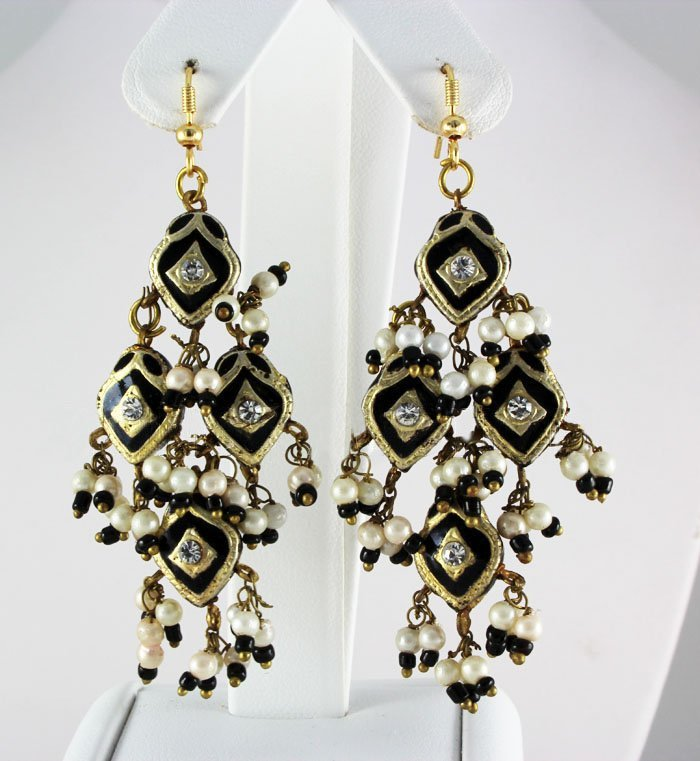 9.93GRAM INDIAN HANDMADE LAKH FASHION EARRING