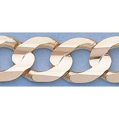 "Pure Gold 16"" 14k Gold-Yellow 9.9mm Curb Chain"