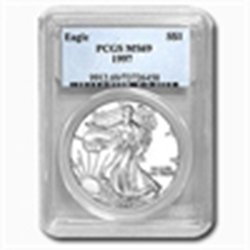 1997 1 oz Silver American Eagle MS-69 PCGS