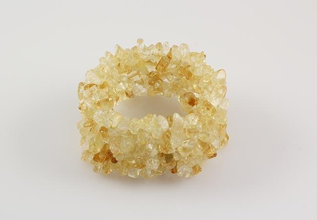 Handmade Natural Stone Chip Beads Stretch Bracelet