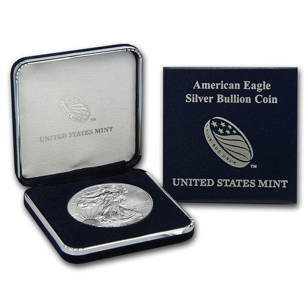 2007-W (Burnished) Silver American Eagle (w/Box & CoA)