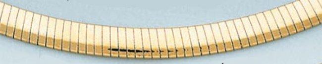 LIGHT OMEGA NECKLACE 6mm 16in. 25 grs 14kt Y Gold