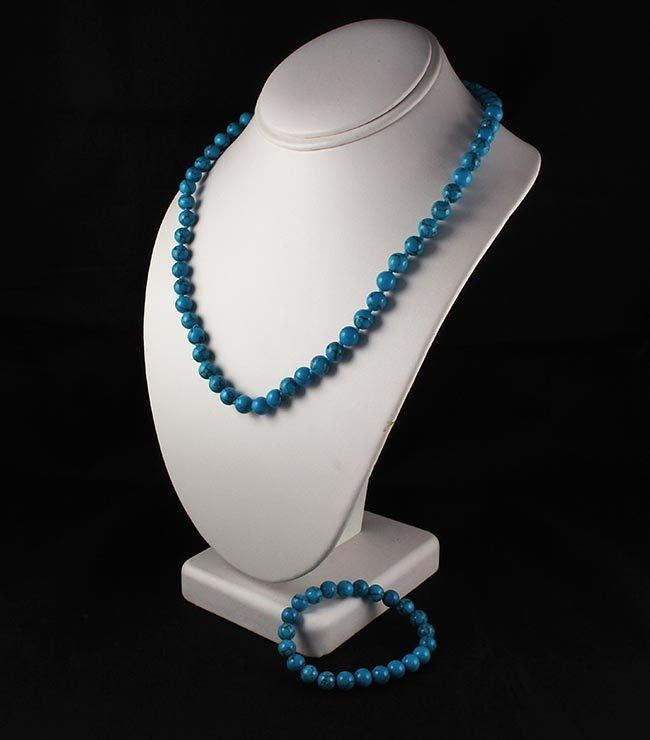 Plain and Simple Turquoise Set Necklace and Bracelet